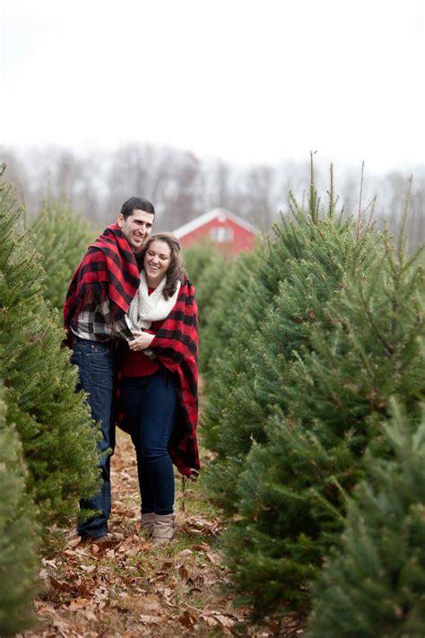 christmas tree farm engagement session baltimore wedding