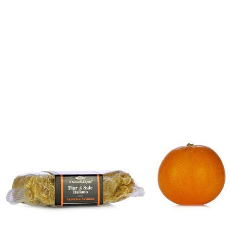 fiore di sale fior di sale arancio e lavanda 160g il mercante di