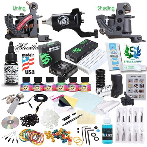 tattoo kits no ink dragonhawk tattoo machine kits bloodline ink hot sale 405