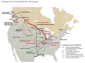 pipelines in canada map why are wti and brent prices so different our finite world