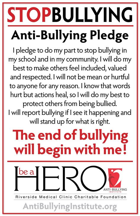 Anti Bullying Institute Print Materials Anti Bullying Poster Templates