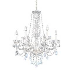 chandelier crystals six light heritage chandelier 1303 40h