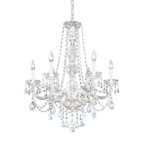 Six Light Heritage Crystal Chandelier 1303 40h Chandelier Lights