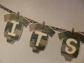 Camouflage Baby Shower Decorations Baby Shower Banner Its A Boy Camo Explore Sweet