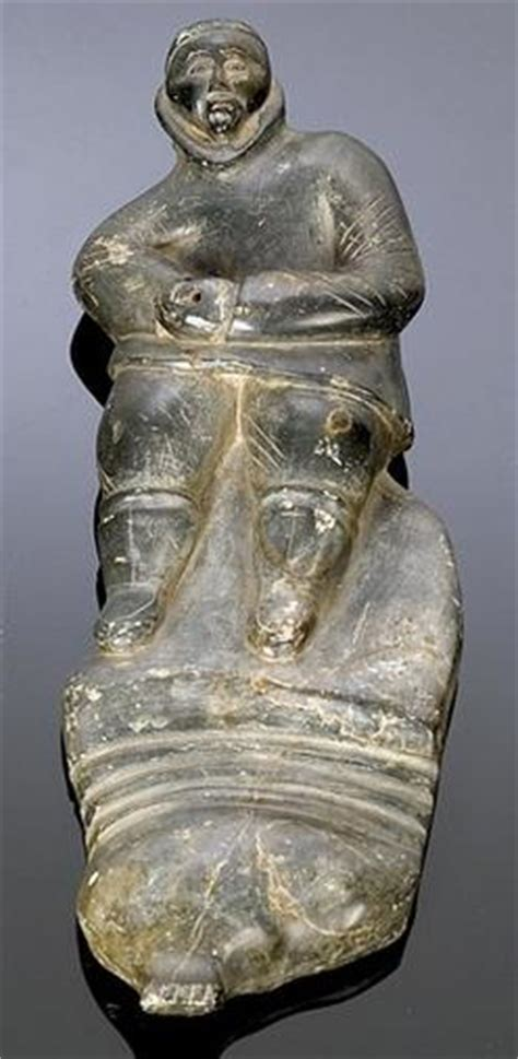 inuit soapstone carvings value carving eskimo soapstone figure of 14 inch