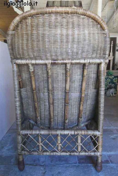 sedie in vimini da interno poltrona da interno in midollino