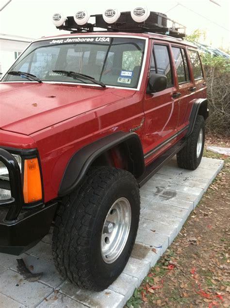 Jeep Xj Flat Fender Flares Bushwacker Flat Style Fender Flares On 235 75r15 Jeep