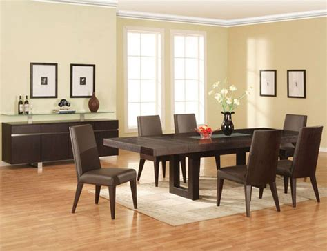 extendable wooden made in spain modern dining room extendable rectangular wooden and glass top leather 5 pc