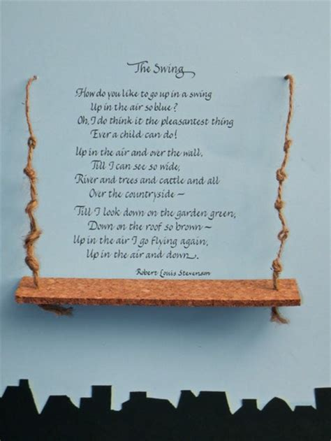 poem swing unique gifts of calligraphy the swing by robert lewis