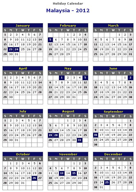 Calendar 2015 With Holidays Malaysia 2014 Calendar With Holidays