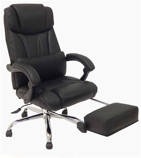 leather reclining office chair  footrest