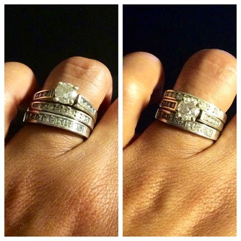 how do you your you how do you wear your stacked rings weddingbee