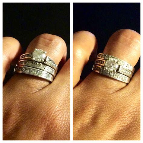 beautiful engagement rings correct way to wear wedding