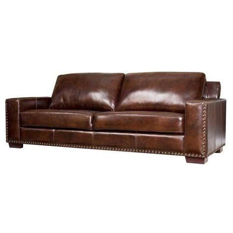 Abbyson Leather Sofa Abbyson Living Beverly Leather Sofa In Espresso Sk 9060 Brn 3
