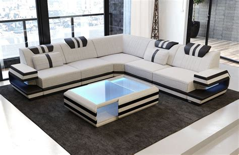 luxury sofa san antonio with led lights and usb with