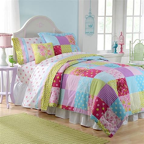 patchwork reversible comforter set bed bath beyond
