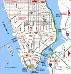 Manhattan Island Map New York by Road Map Of Lower Manhattan Manhattan New York