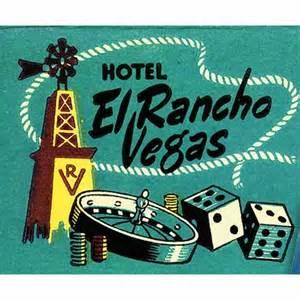 El Rancho El Rancho Vegas Matchbook Print Western By Matchbookmemories