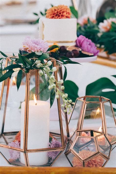 Ideas for Bronze Copper Wedding Table Decoration   Arabia