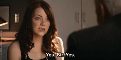 emma stone easy a gif emma stone yes gif find share on giphy