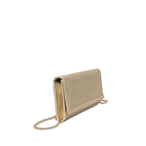 Jimmy Choo Shimmer Calfskin Clutch by Jimmy Choo Milla Clutch In Metallic Lyst