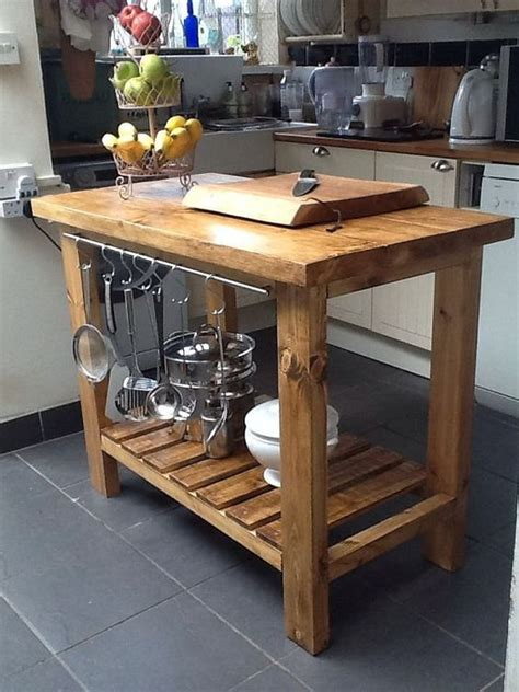 handmade rustic kitchen island butchers block delivery