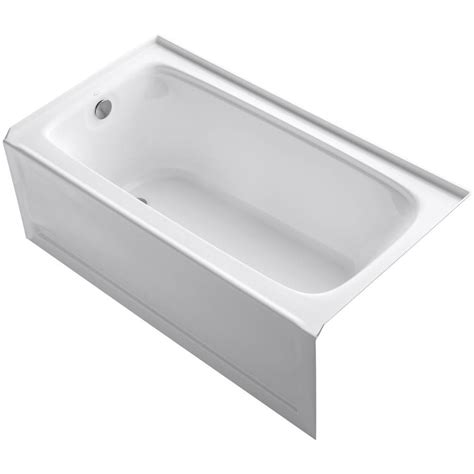 kohler bathtubs home depot kohler bancroft 5 ft acrylic left drain rectangular