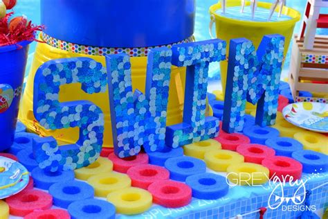 pool party decorations greygrey designs my parties summer pool party by