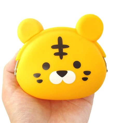 Silicone Coin Wallet Dompet Silikon 1 tiger shaped mimi animal friends silicone clasp coin purse