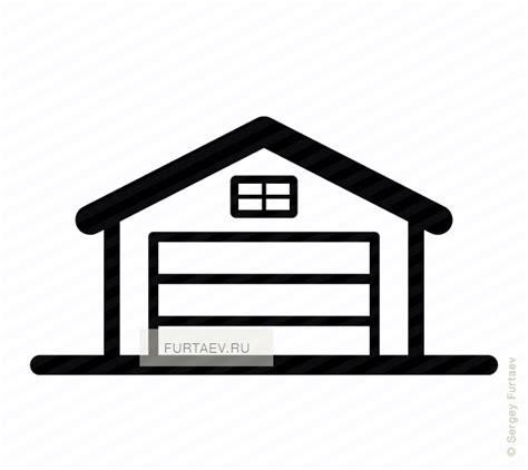 Garage Door Clipart Garage Vector Icon