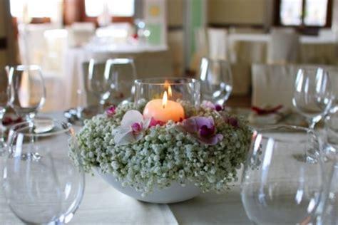 composizioni con candele e fiori centrotavola con fiori fai da te