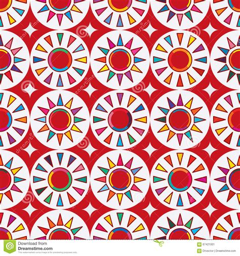 japanese pattern drawing taiwan flag abstract japan red sun seamless pattern stock