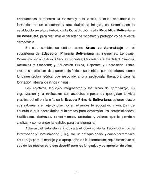 curriculo educacion primaria bolivariana slideshare curriculo educacion primaria bolivariana