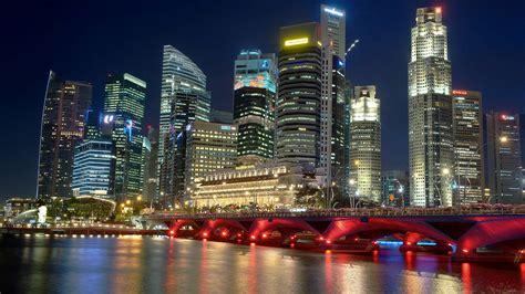 pc themes singapore night skyline wallpaper wallpapersafari