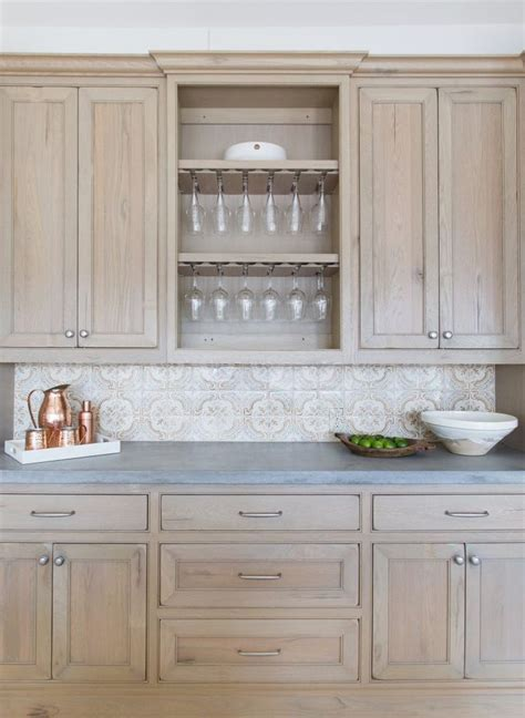 perfect  patio style stained kitchen cabinets