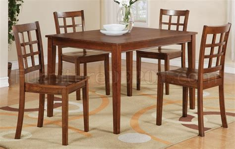 Cherry Finish Dining Table Cherry Finish 5pc Modern Dining Table Set