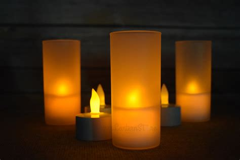 rechargeable flameless led candle set 12 pieces