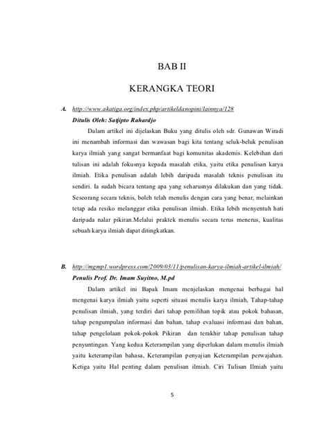 format makalah bab 2 contoh makalah bi