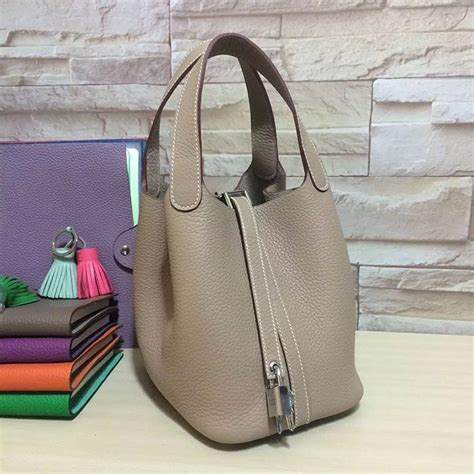 Tas H Picotion Bag In Bag hermes picotin small bag grey clemence leather herm 232 s h ing it up leather