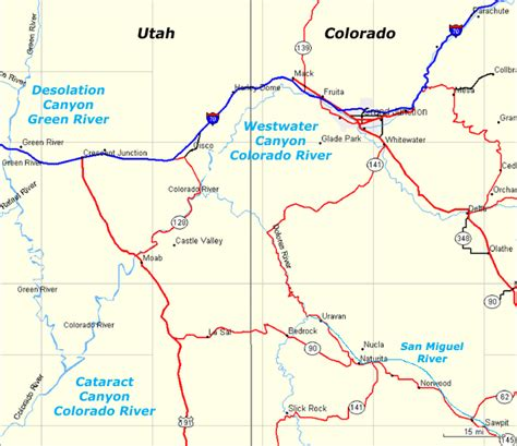 grand colorado river map grand junction to moab raft trips map