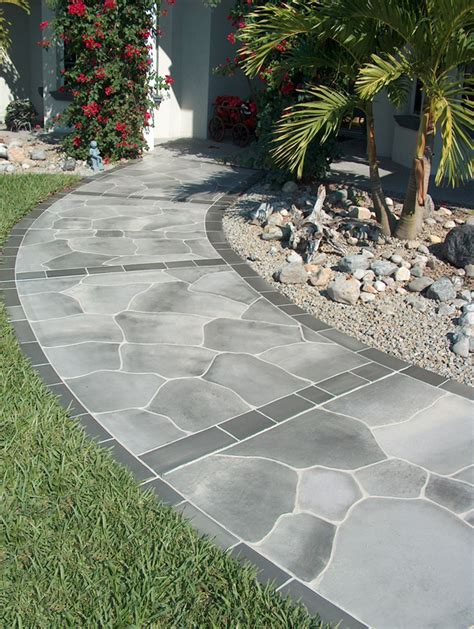 concrete walkway ideas cement walkways images frompo