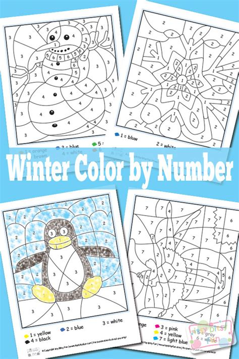 large print color by number coloring book winter beautiful and festive coloring activity book for and winter to relieve stress and relax books winter color by numbers worksheets itsy bitsy