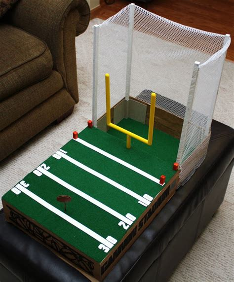 How To Make A Football Field Out Of Paper - bits of paper a box football field