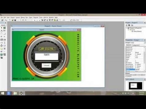 membuat jam digital menggunakan vb 6 tutorial membuat aplikasi jam digital menggunakan vb 6 0