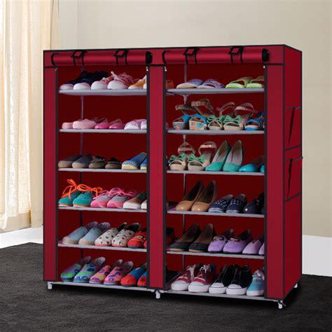 50 Pair Shoe Rack by 10 Tie Shoe Rack For 50 Pair Wall Bench Shelf Closet