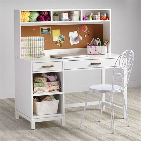 white kid desk desks study tables the land of nod