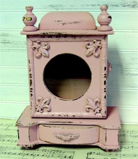shabby chic shadow box upcycled shabby pink shadow box jewelry box