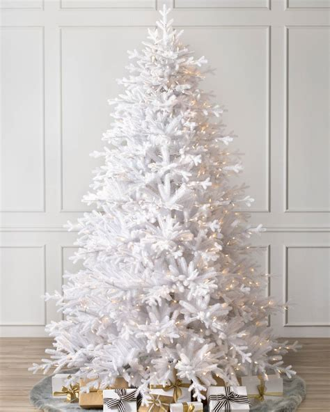 denali white artificial christmas tree balsam hill
