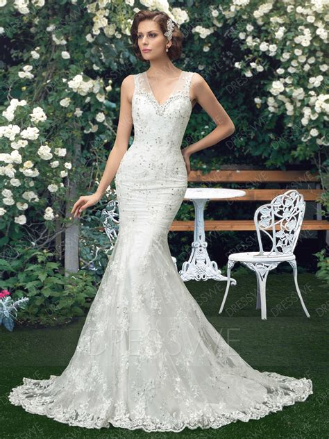 corte en white plains plain trumpet mermaid court train button wedding dress