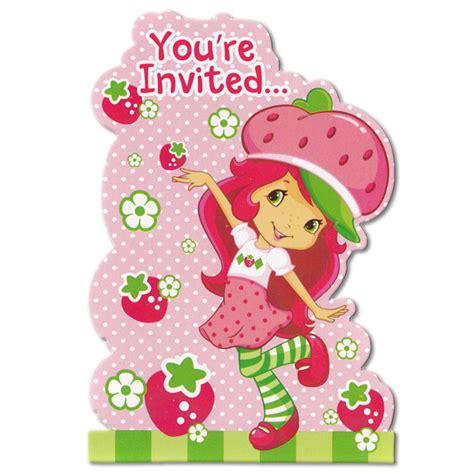 strawberry shortcake baby shower invitations for a sweet